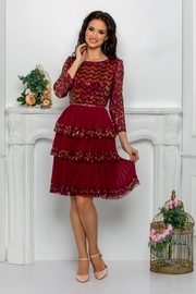 rochii de cununie civila scurte rosii