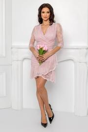 rochii de cununie roz scurte