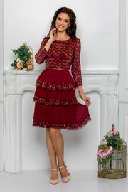 rochii elegante de cununie civila rosii