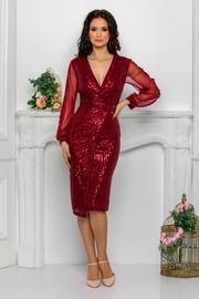 rochii scurte de cununie civila rosii